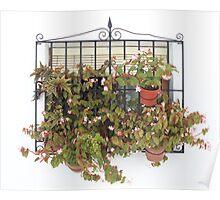Window Display, Frigiliana, Malaga Poster