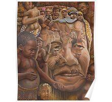 Nelson Mandela ''The shepherd and the shaman''.   Poster