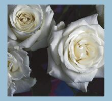white roses blooming Kids Clothes