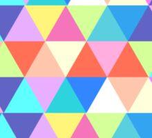 North Dakota Colorful Hipster Geometric Triangles Sticker
