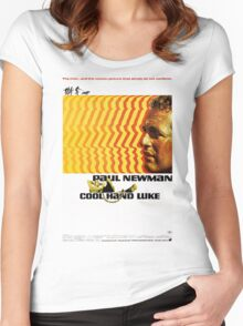 Cool Hand Luke Movie Poster Women's Fitted Scoop T-Shirt