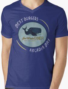 Two Whales Diner Tee (lighter) Mens V-Neck T-Shirt