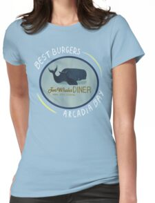 Two Whales Diner Tee (lighter) Womens Fitted T-Shirt