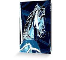 Midnight Ride Of A Wild Horsey Greeting Card