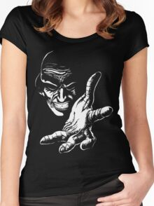 Evil Genius (On Black) Women's Fitted Scoop T-Shirt