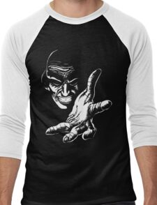 Evil Genius (On Black) Men's Baseball ¾ T-Shirt