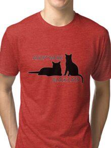 Adopt More Black Cats Tri-blend T-Shirt