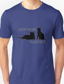 Adopt More Black Cats Unisex T-Shirt