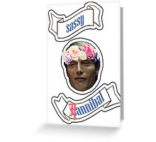 Sassy(C)Hannibal Greeting Card