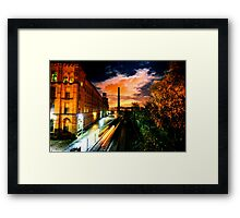 Train at Night Salts Mill, Saltaire Framed Print