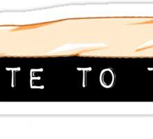 I vote to toke (classic) Sticker