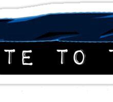 I vote to toke (modern) Sticker