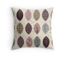Nature Inspired Leaves  Throw Pillow