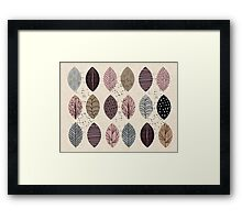 Nature Inspired Leaves  Framed Print