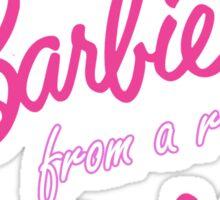 Real Barbie Sticker