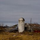 Old Collapsed Farm Barn and Silo by Paul Marotta