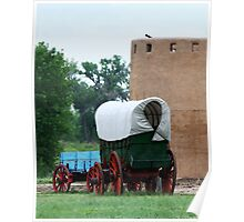 Wagons at Bent's Fort, Colorado Poster