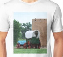 Wagons at Bent's Fort, Colorado Unisex T-Shirt