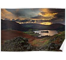 Early Morning Sun, Grasmere, Cumbria Poster