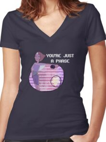 You're Just a Phase Women's Fitted V-Neck T-Shirt