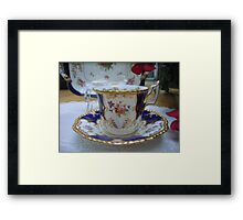 My Favorite Cup and Saucer Framed Print