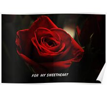 One Red Rose- For My Sweetheart Poster