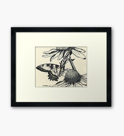 Dotted Butterfly Framed Print