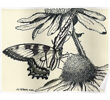 Dotted Butterfly Poster