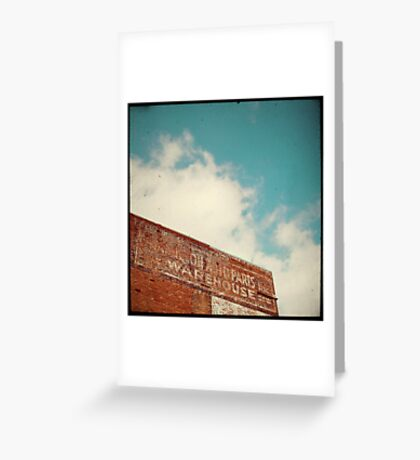 ghost sign Greeting Card