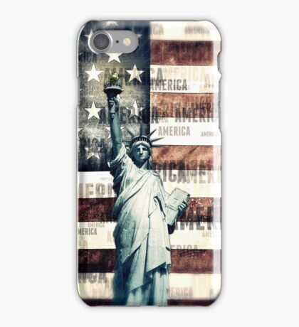 Vintage Patriotic American Liberty iPhone Case/Skin