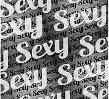 Typographic Collage Pattern by DFLC Prints