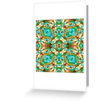 Colorful Modern Pattern Collage Greeting Card