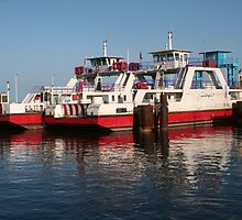 Ferry Boats from Djerba Island to Tunisia's Mainland by Laurel Talabere