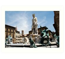 Statue of Neptune in Florence, Italy Art Print