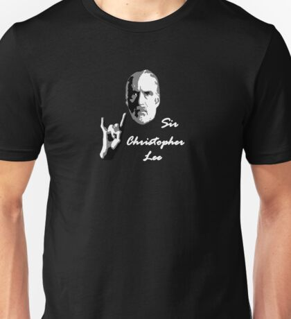 Sir Christopher Lee Unisex T-Shirt