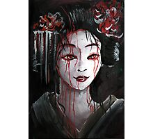 Geisha in Blood: The unwiling Concubine Photographic Print
