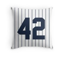Number 42 Pinstripe Design Throw Pillow