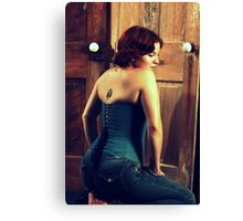 Corseted Beauty Canvas Print