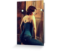 Corseted Beauty Greeting Card