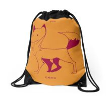 For Fox Sake Drawstring Bag
