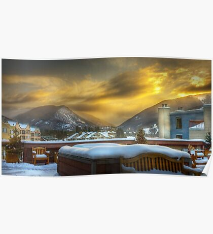 Sun rising over Keystone Resort Poster