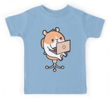 Laptop Hammie - hamster with laptop computer  Kids Tee