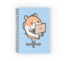 Laptop Hammie - hamster with laptop computer  Spiral Notebook
