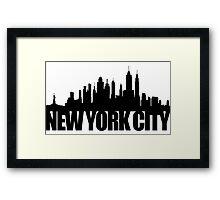 NYC Skyline - black Framed Print