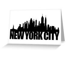 NYC Skyline - black Greeting Card