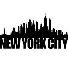 NYC Skyline - black Photographic Print