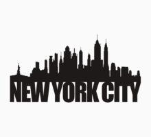 NYC Skyline - black Baby Tee