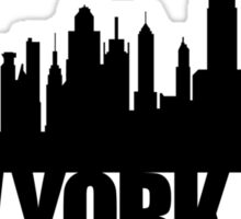 NYC Skyline - black Sticker