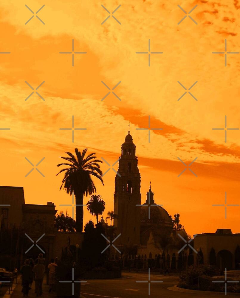 Balboa Park Silhouette, Orange by Heather Friedman
