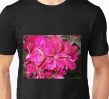 Magenta Geraniums Unisex T-Shirt